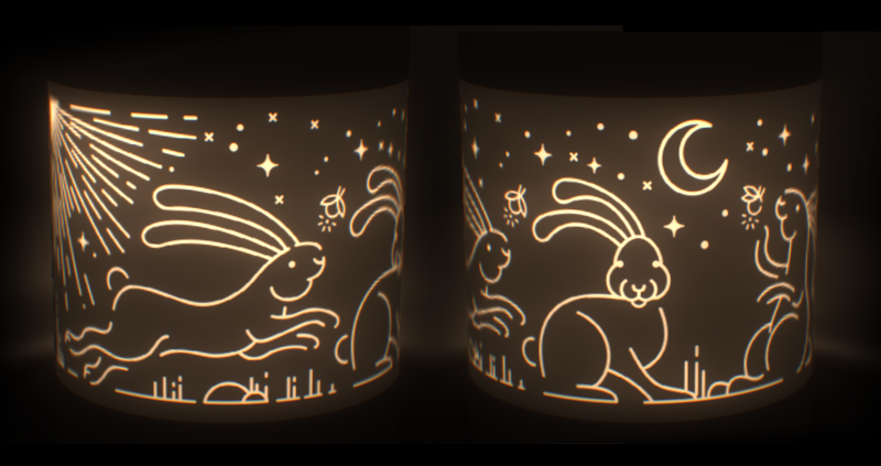Cut Out Lamp Shade Cut out the darkness behance japan justyna stasik illustration audiocablefo